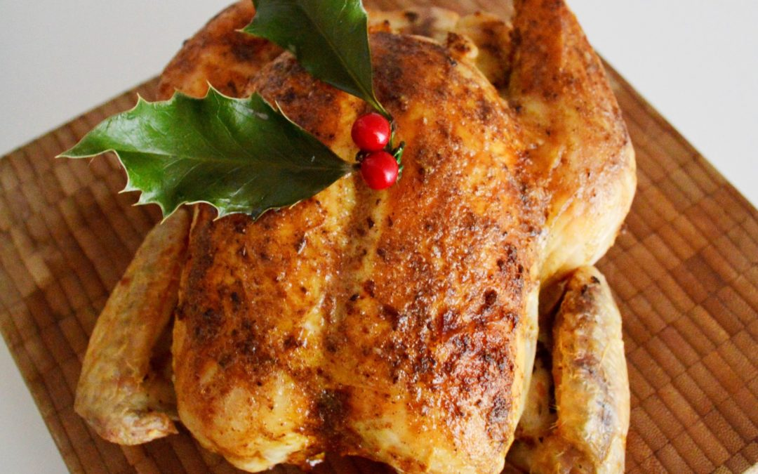 Roast Chicken with Chilli Butter