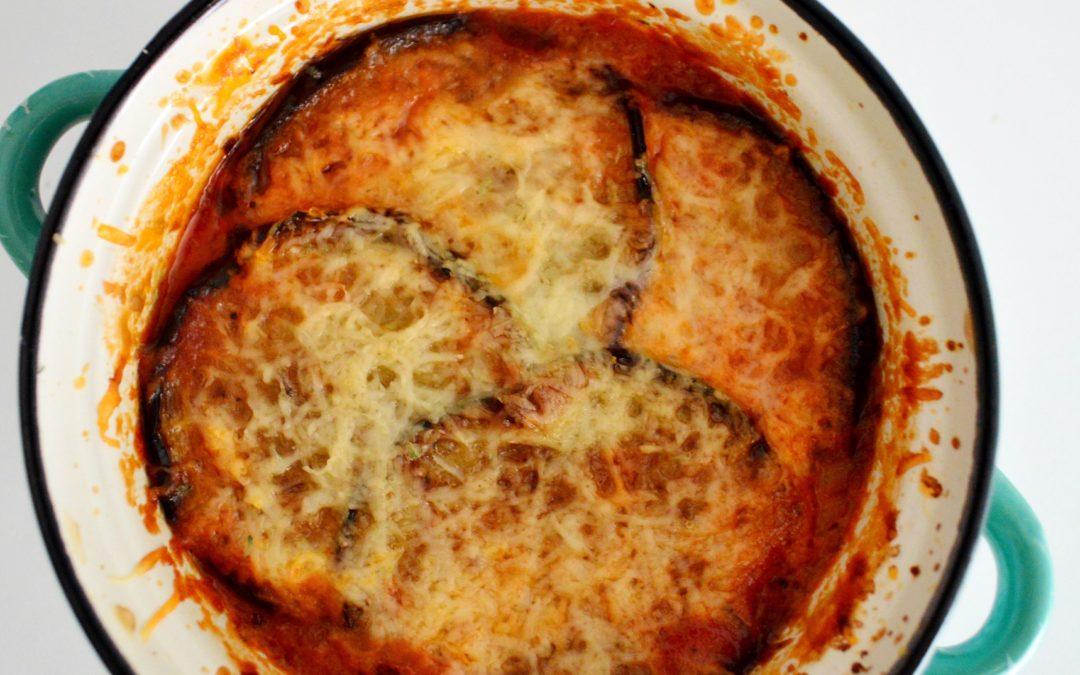 Spicy Aubergine Parmigiana