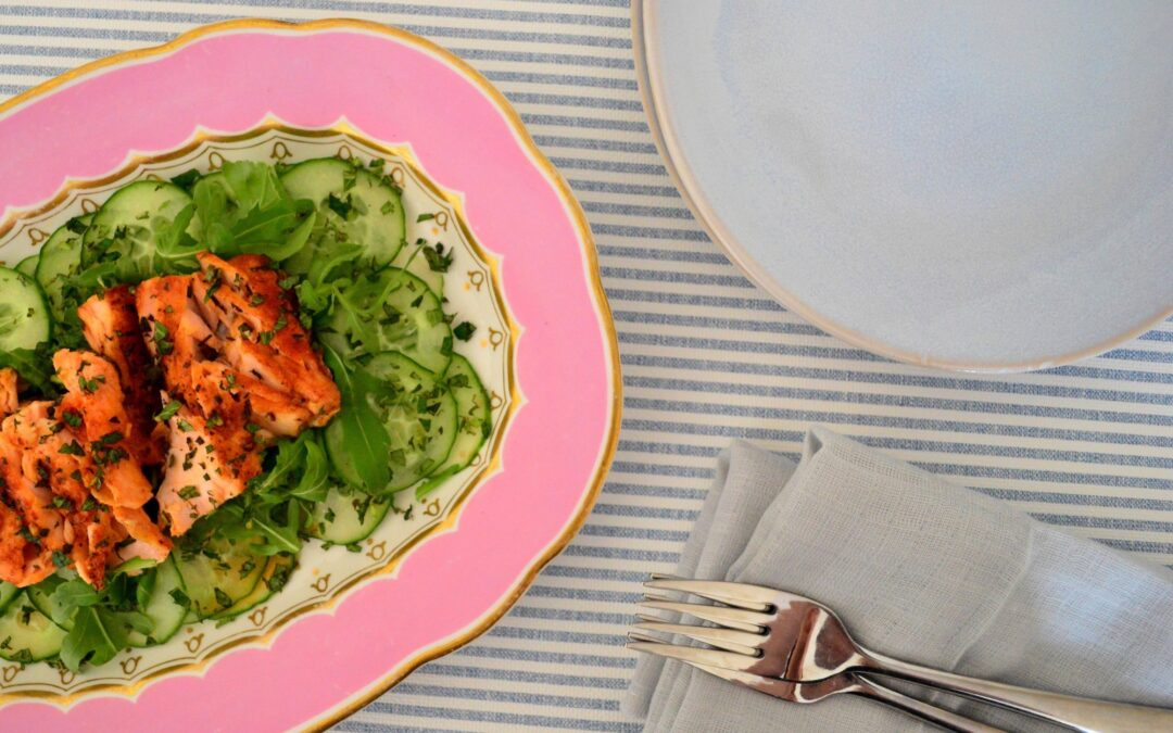 Mango Glazed Salmon Salad