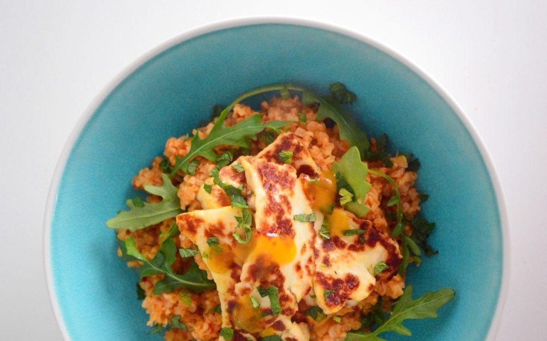 Mango Halloumi Salad Bowl
